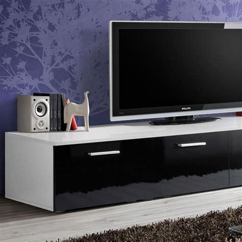 Meuble Tv 200 Cm by Meuble Tv Design Quot Duo Quot 200cm Noir Blanc