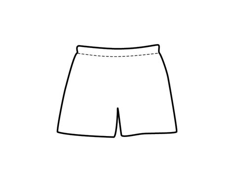 printable men s shorts coloring page from freshcoloring com