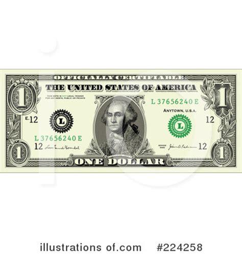 dollar bill clipart #224258 illustration by bestvector
