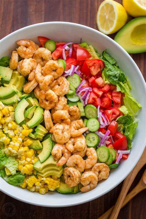 best salad recipes avocado shrimp salad recipe video natashaskitchen com