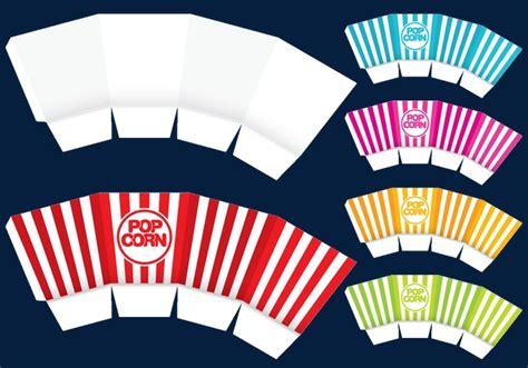 vector packaging popcorn packaging design flat png