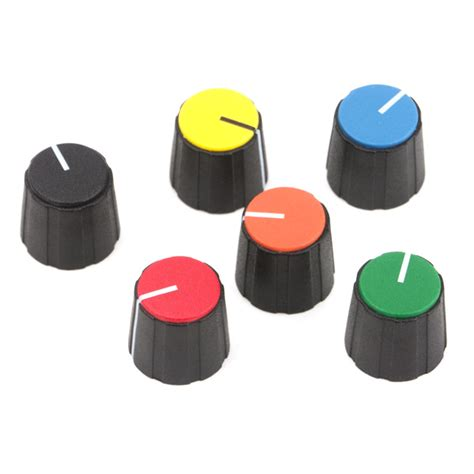 Collet Knobs by Black 15mm Collet Knob With Line Green Cap 2 92