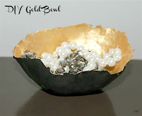 diy gilded or fabric covered bowls balancing and