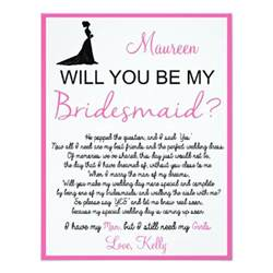 invitation to be a bridesmaid will you be my bridesmaid card zazzle