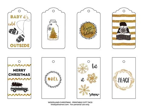 printable gift tags gold wishing you a white christmas printable gift tags black