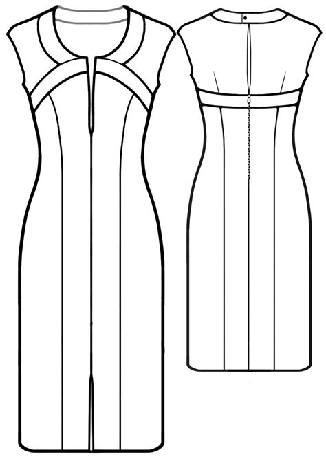Short Dress With Shaped Neckline - Sewing Pattern #5589
