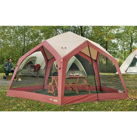Screen House Tent by 14x14 Pentagon Screen House Maroon 89905 Backpacking
