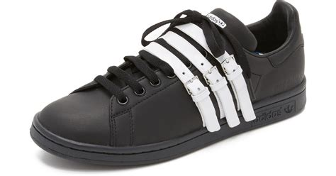 Raf Simons Shoes Black And White by Lyst Adidas Originals Raf Simons Stan Smith Sneakers In Black
