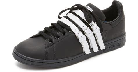 lyst adidas originals raf simons stan smith sneakers in black