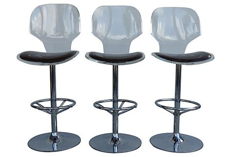 Acrylic Swivel Bar Stools by Lucite Swivel Bar Stools By Hill Manufacturing Modernism