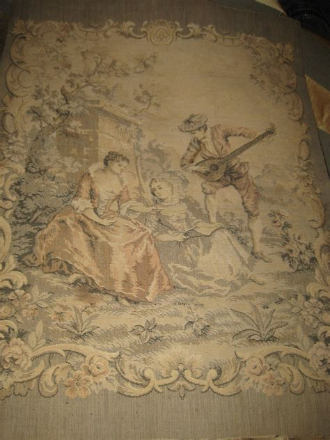 vintage tapestry upholstery fabric antique vintage french tapestry fabric panel by elegantthrift