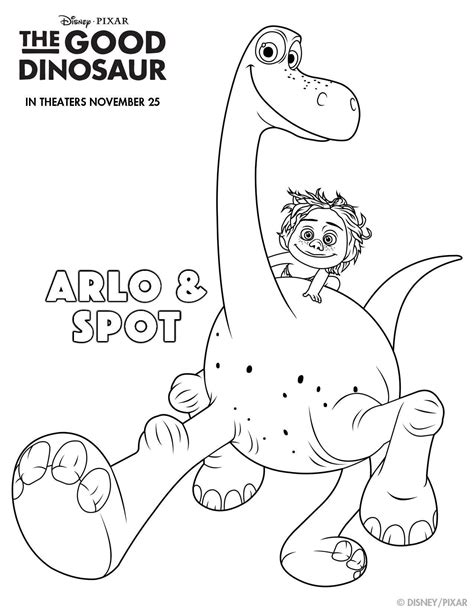 coloring pages of activities disney pixar s the good dinosaur printables to make your
