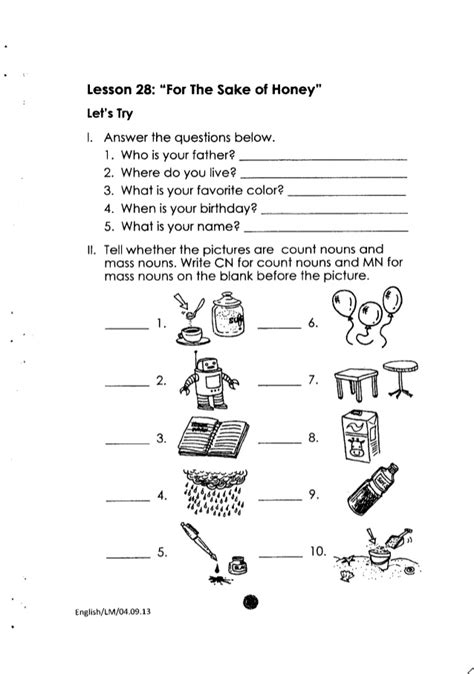 printable worksheets grade 2 english k to 12 grade 2 learning material in english
