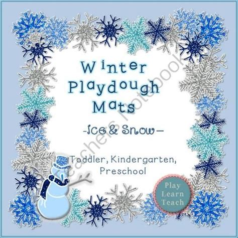 printable winter playdough mats 52 best christmas play dough images on pinterest