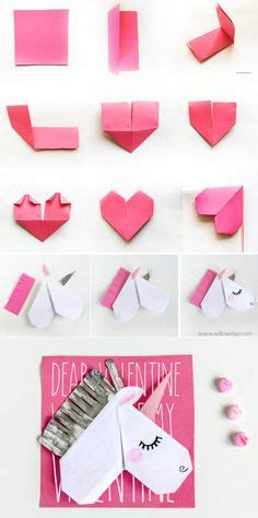 Origami Unicorn Easy - make origami unicorn s cards that are bookmarks