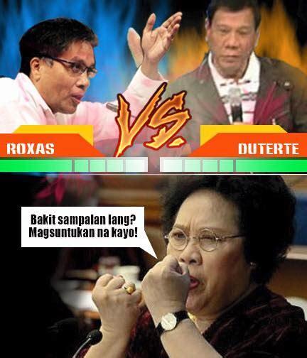 Duterte Memes - salan suntukan memes duterte vs roxas