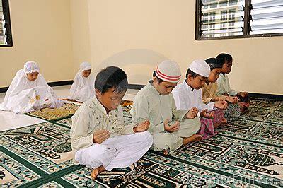 muslim kids praying royalty  stock image image