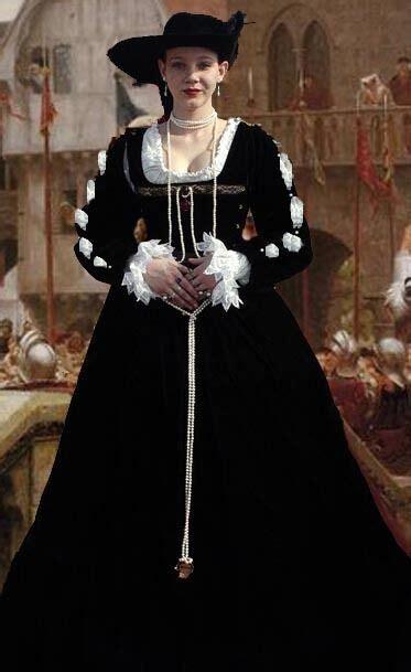 pc renaissance velvet dress costume clothes bodice skirt