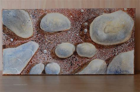 original painting watercolour rocks sand pebbles 40cmx20cm by barros madeit