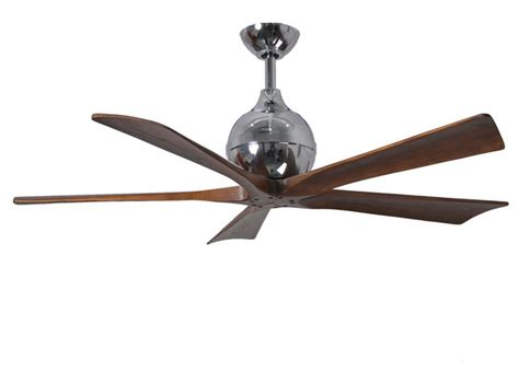 Paddle Ceiling Fans by Irene 5 5 Blade Paddle Fan With Walnut Tone Blades