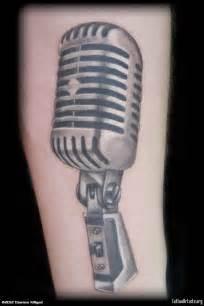 mic tattoos old school mic