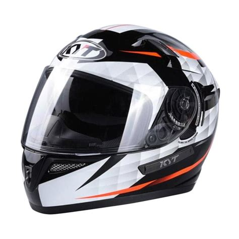 Helm Kyt K2 Rider K2rider Visor Black White Orange jual kyt k2 rider helm black white
