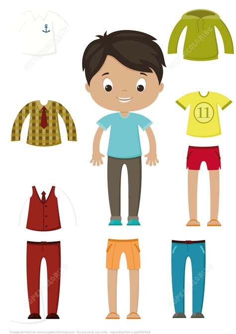 paper doll templates cut out cut out boy paper doll clothes set free printable
