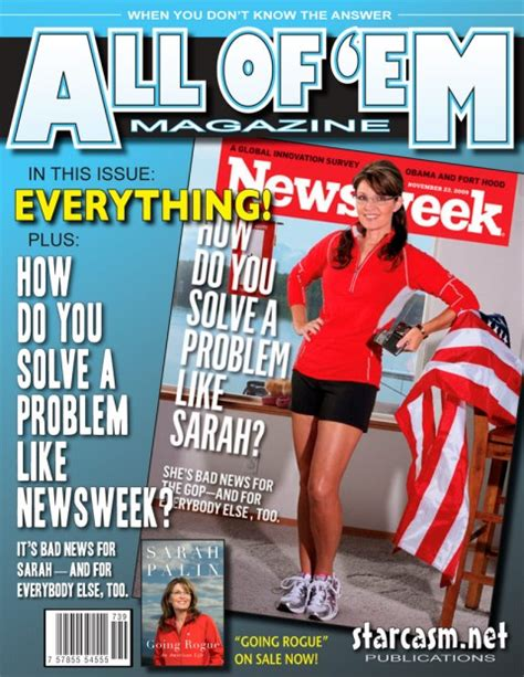 Palin On The Cover Of Are You Kidding by Photo Palin Counters Newsweek Cover With Own