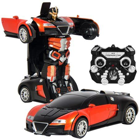 boat car robot best choice products kids toy transformer rc robot car