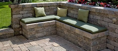 stacked stone bench stack stone bench wall yard pinterest
