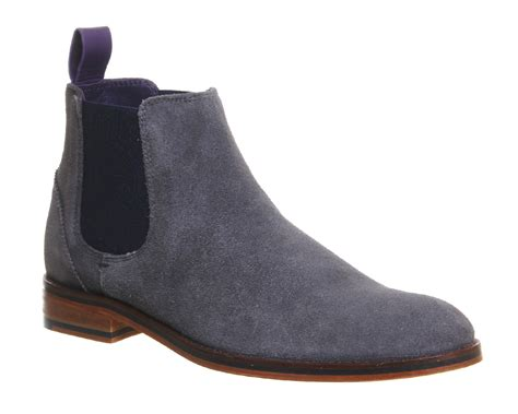 grey chelsea boots mens ted baker camroon 4 chelsea boots in gray for grey
