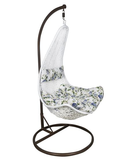 white swing chair outkraft white hanging chair swing with cushions stand