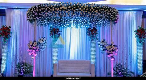 Decoration Reception by Wedding Gallery Sigaram Wedding Decorators