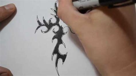 cool tribal cross tattoos tribal cross tattoos drawing a cool spikey design