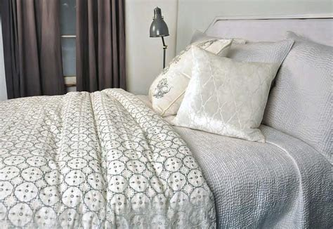 silk quilted coverlet kevin obrien studio bedding casablanca white quilted