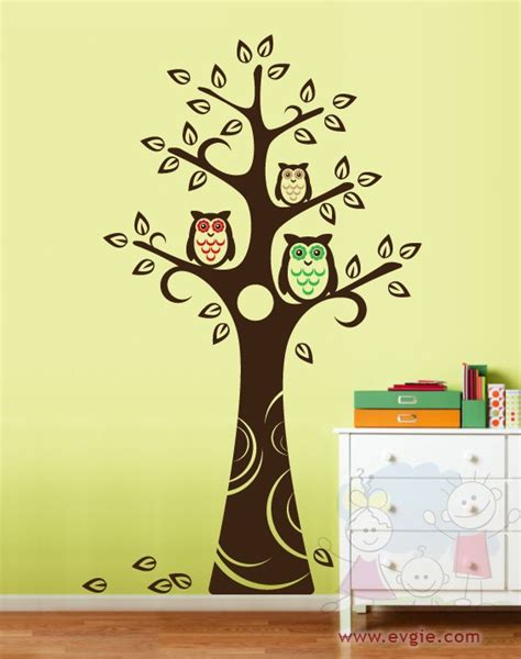 tree and owl wall stickers tree wall decal wall sticker tree decal owls and tree