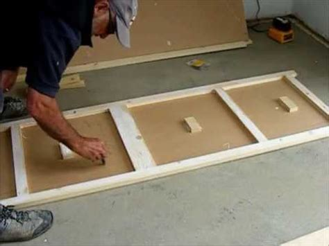 how to make a door make a pair of flush wardrobe doors