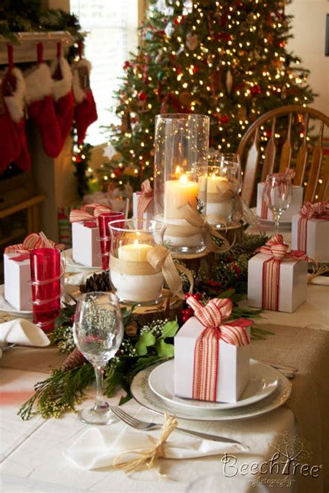 Christmas Table Settings by Christmas Table Ideas Decorating With Red And Green