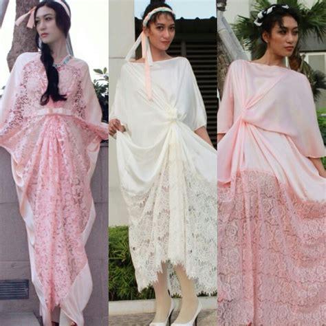 Kaftan Gamis Brukat Nagita Syahrini Caftan Lebaran Baju Pesta Wanita wags dan trend model baju muslim hamdeensabahy wags