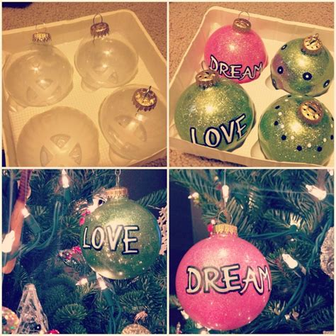 my homemade ornaments get plain glass or plastic