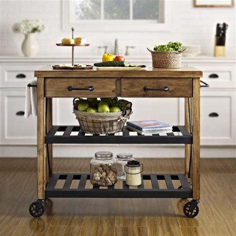 kitchen island carts on wheels roots rack industrial kitchen cart made of solid pine by