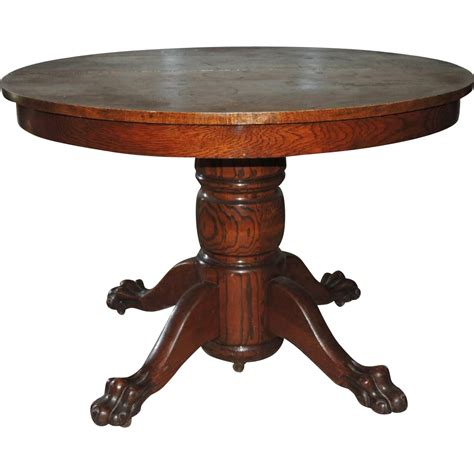 banquet dining table antique oak paw foot banquet dining table