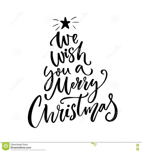 merry christmas typography greeting card text stock vector illustration