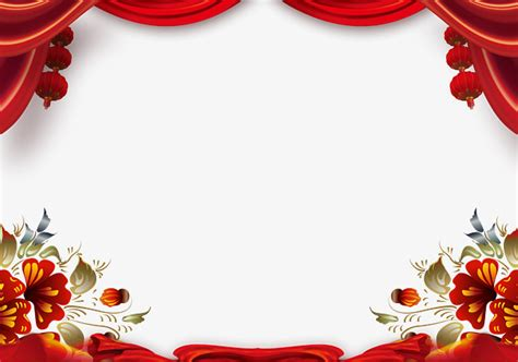 new year background psd new year background border auspicious peony png and