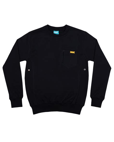Sweater Wadezig Basic Crewneck Black Wadezig