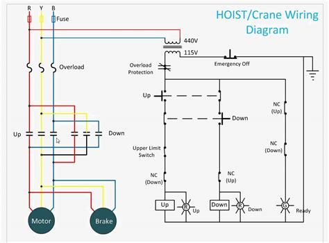 electric hoist wiring diagram get free image about