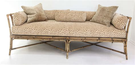 bamboo sofa bed vintage bamboo daybed sofa at 1stdibs