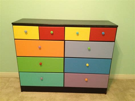 multi colored drawer dresser multi colored kid s dresser cute kids room ideas