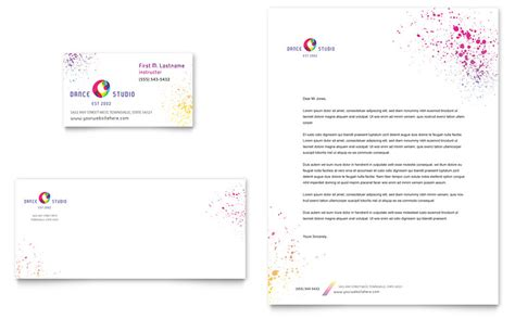 letterhead templates indesign studio business card letterhead template word publisher