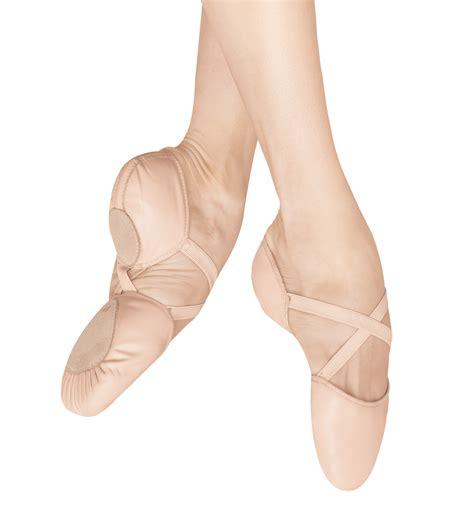 ballet shoes quot elastosplit x quot leather split sole ballet slippers shoes